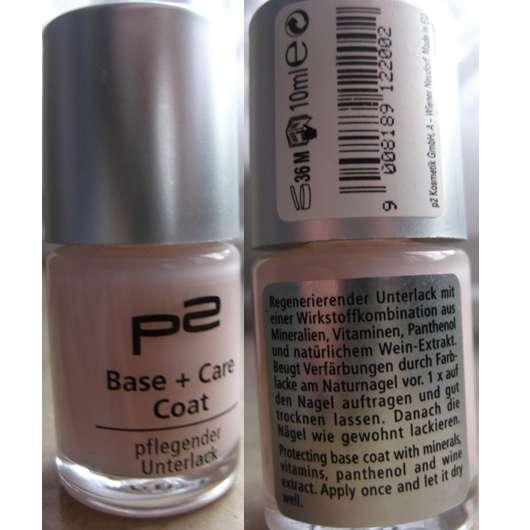 p2 Base + Care Coat – pflegender Unterlack