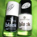 essence Black and White Nail Polish, Farbe: 01 Black Out & 02 White Hype