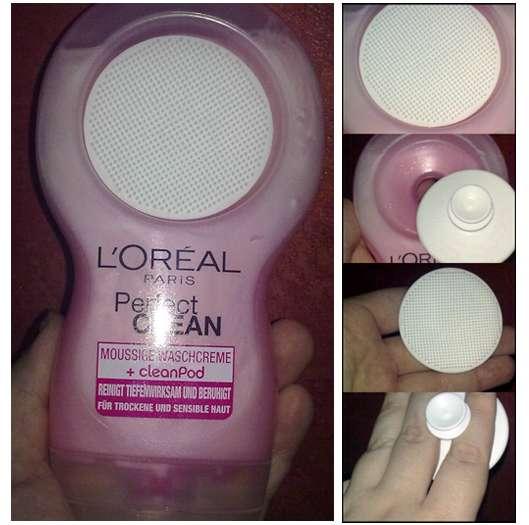 L'Oréal Perfect Clean Moussige Waschcreme + cleanPod (für trockene & sensible Haut)