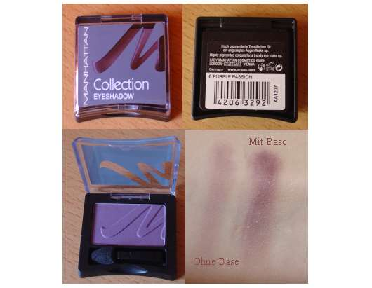 Manhattan Collection #2 Eyeshadow, Farbe: 6 Purple Passion