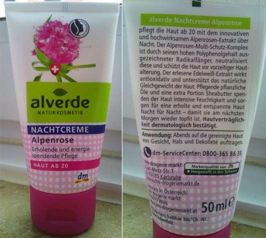alverde Alpenrose Nachtcreme