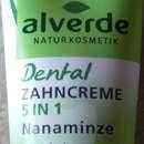 alverde Dental Zahncreme 5 in 1 Nanaminze mit Fluorid