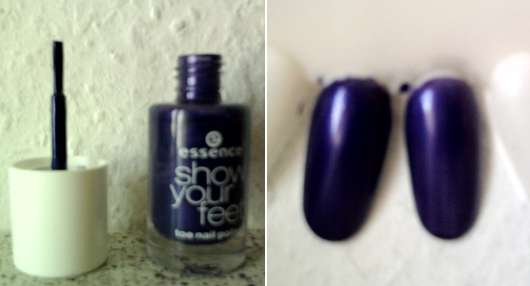 <strong>essence show your feet</strong> toe nail polish - Farbe: 03 purple magic