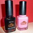 LCN Nail Polish, Farbe: Schwarz & LCN Crackle Lack, Farbe: Pink