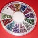 Strasssteinchen Rondell 12 Farben rund