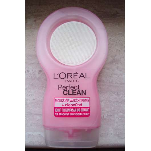 L'Oréal Paris Perfect Clean Moussige Waschcreme + cleanPod (für trockene und sensible Haut)
