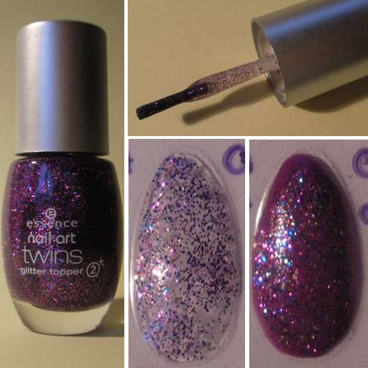 essence nail art twins glitter topper, Farbe: 08 Troy