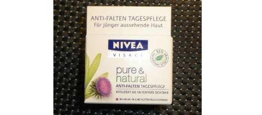 Nivea pure & natural Anti-Falten Tagespflege