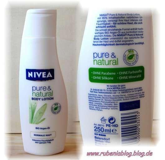 Nivea pure & natural Body Lotion