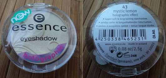essence eyeshadow, Farbe: 43 mystic lemon (holographic effect)