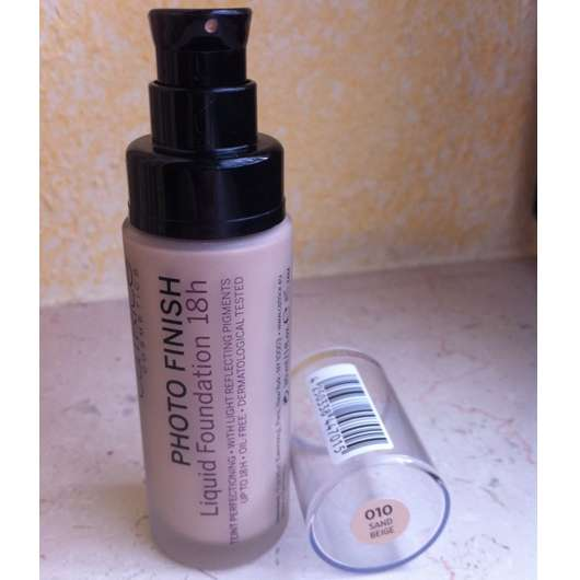 Catrice Photo Finish Liquid Foundation 18h, Farbe: 010 Sand Beige