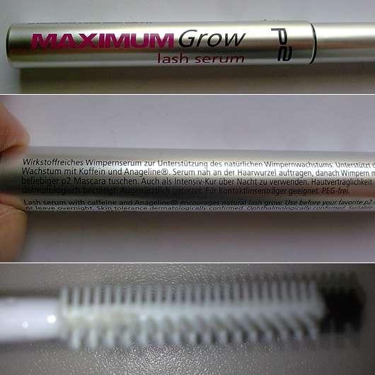 p2 maximum grow lash serum