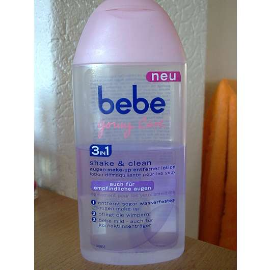 bebe Young Care 3in1 shake & clean Augen-Make-up Entferner Lotion