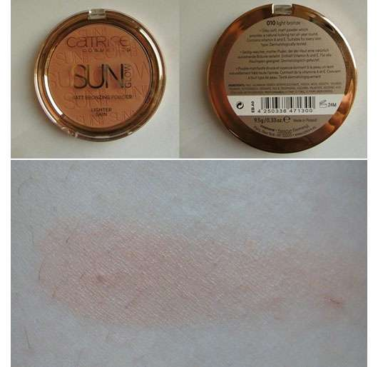 Catrice Sun Glow Matt Bronzing Powder, Farbe: 010 light bronze