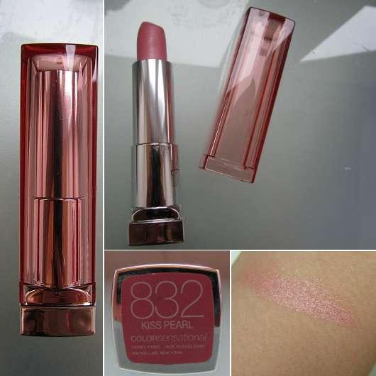 Maybelline Jade Color Sensational Lipstick, Farbe: 832 Kiss Pearl