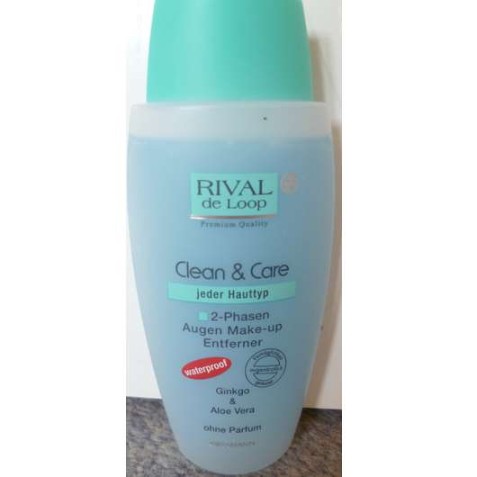Rival de Loop Clean & Care 2-Phasen Augen Make-up Entferner (waterproof)
