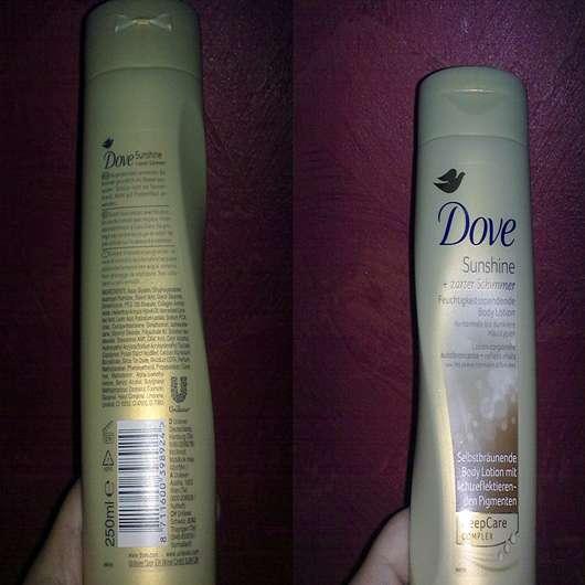 Dove Sunshine + zarter Schimmer Feuchtigkeisspendende Body Lotion