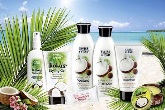 Pflege und Styling für das Haar mit der Kokos-Serie von SWISS•O•PAR®