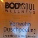 Body & Soul Wellness Verwöhn Duschpeeling Grapefruit & Bergamotte