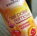 "essence nail polish remover ""summer edition"""