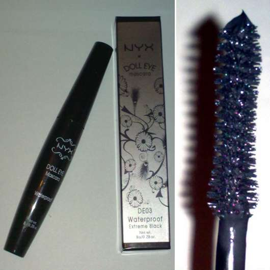 NYX Doll Eye Mascara, Farbe: Extreme Black (waterproof)