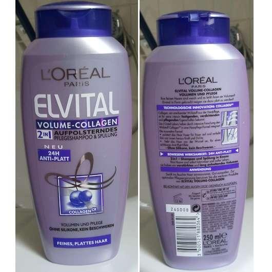 L'Oréal Elvital Volume-Collagen 2in1 Aufpolsterndes Pflegeshampoo & Spülung (24h Anti-Platt)
