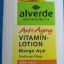 alverde Anti-Aging Vitamin Lotion Mango Açaí