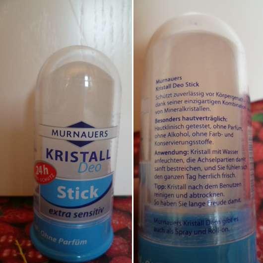 Murnauers Kristall Deo Stick extra sensitiv