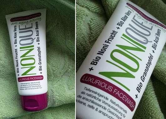 """Nonique """"Luxurious Facewash"""" Gesichtswaschcreme anti aging activity"""