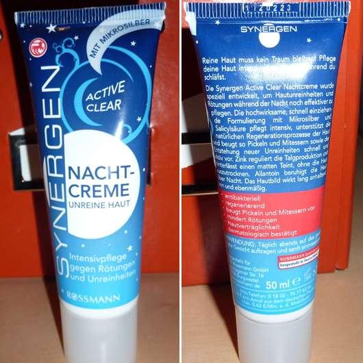 Synergen Active Clear Nachtcreme Unreine Haut