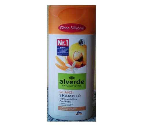 alverde Glanz-Shampoo Zitronenblüte Aprikose