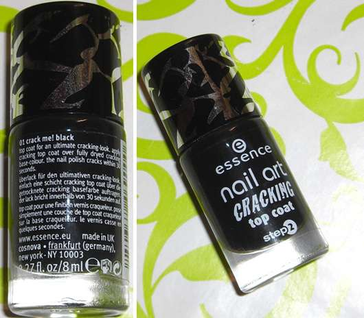 essence nail art cracking top coat, Farbe: 01 crack me! black