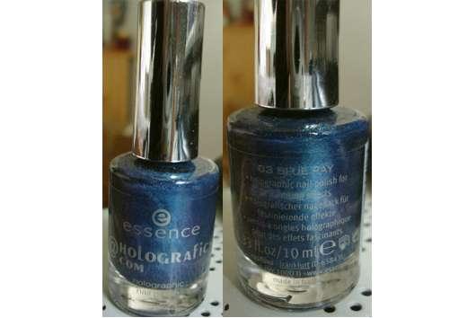 "essence nail polish, Farbe: 03 blue ray (""meet me@holographics.com"" LE)"