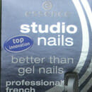 essence studio nails better than gel nails professional french nail tips, Farbe: 03 silver