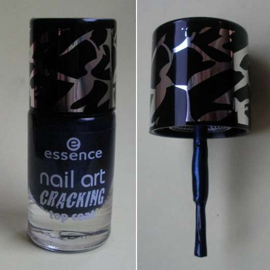 essence nail art cracking top coat, Farbe: 03 crack me! blue