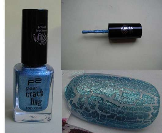 p2 pearl crackling top coat, Farbe: 020 blue thunder