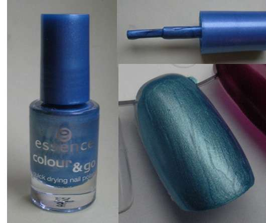 essence colour & go nail polish, Farbe: 75 gleam blue
