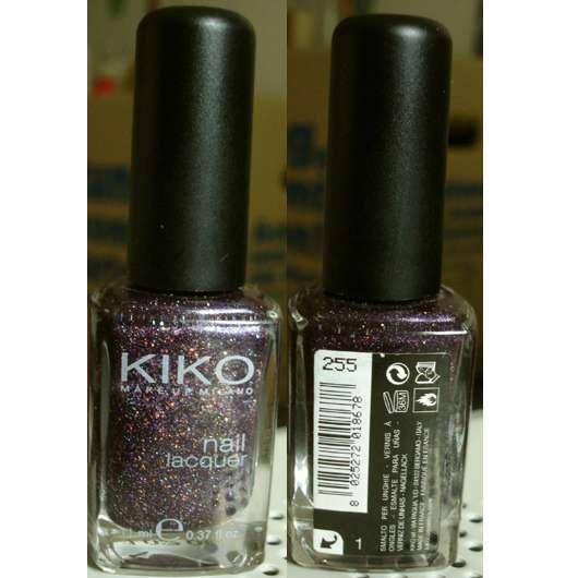 KIKO Nail Lacquer, Farbe: 255 Viola Microglitter