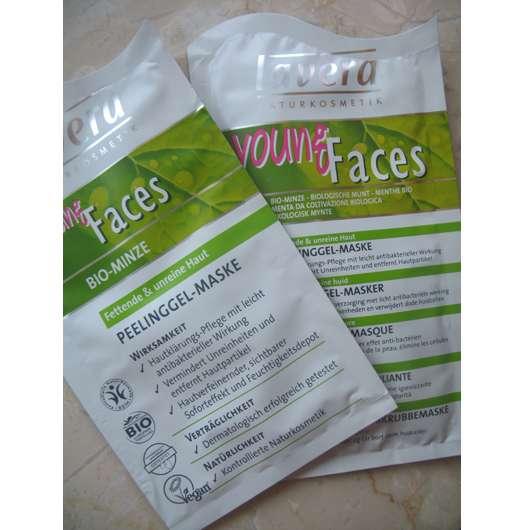 lavera young Faces Bio-Minze Peelinggel-Maske (für fettende & unreine Haut)