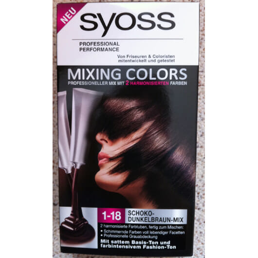 Syoss Mixing Colors, Farbe: 1-18 Schoko-Dunkelbraun-Mix