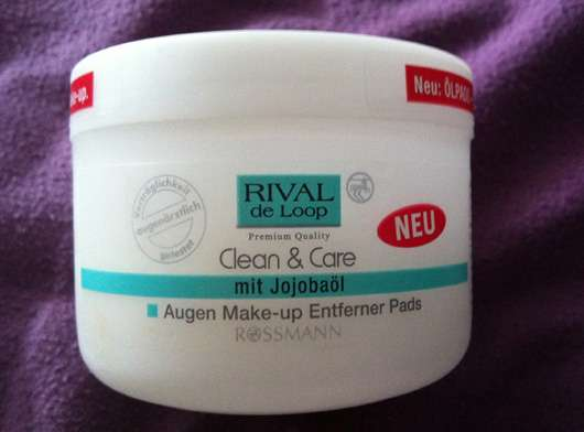 Rival de Loop Clean & Care Augen Make-Up Entferner Pads (mit Jojobaöl)