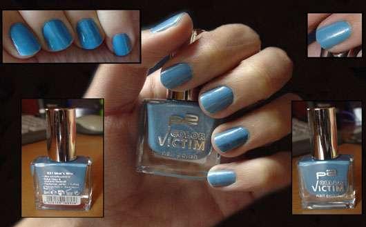 p2 color victim nail polish, Farbe: 531 blue's time