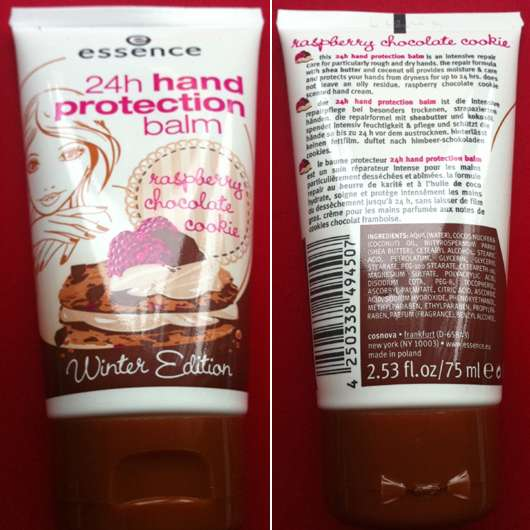 """essence 24h hand protection balm """"raspberry chocolate cookie"""" (Winter Edition)"""