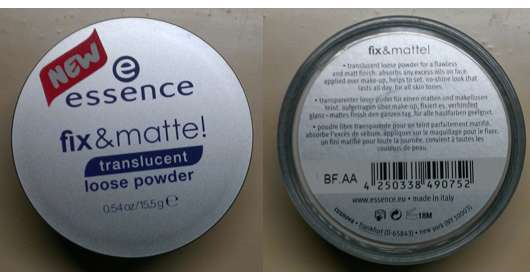 essence fix & matte! translucent loose powder