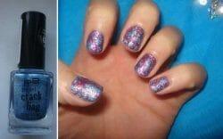 Produktbild zu p2 cosmetics pearl crackling top coat – Farbe: 020 blue thunder