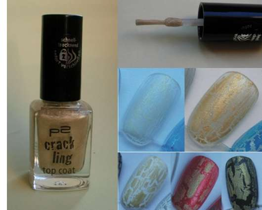 p2 crackling top coat, Farbe: 030 golden rush