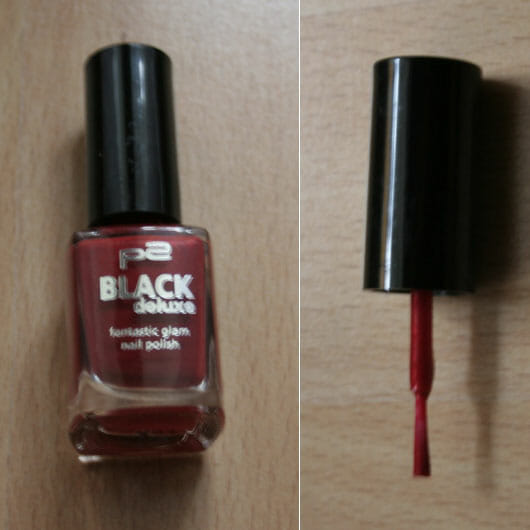 """p2 """"Black Deluxe"""" fantastic glam nail polish, Farbe: 030 red pearl (Limited Edition)"""