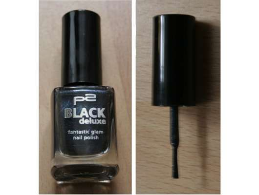 p2 black deluxe fantastic gmal nail polish, Farbe: 010 black pearl (Limited Edition)