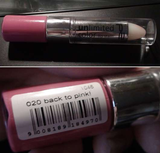 p2 unlimited color lip stain, Farbe: 020 back to pink