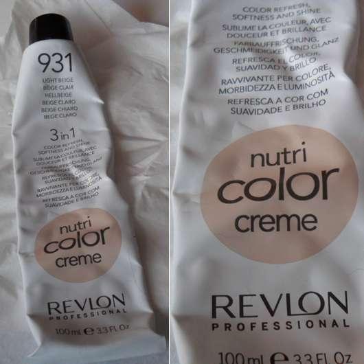 Revlon Professional Nutri Color Creme 3in1 Tönungskur, Farbe: 931 Hellbeige